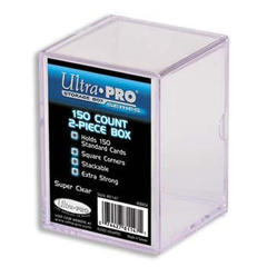 Ultra-Pro 2-Piece 150 Count Clear Card Storage Box (81147)