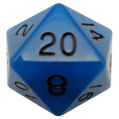 MDG 35mm Mega Acrylic d20 Glow Blue(889001)