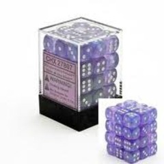 Chessex 36 ct Borealis Purple White 12mm D6  (CHX27807)