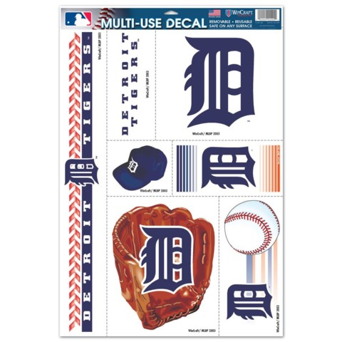 Detroit Tigers Multi Use Decal 11 x 17 Item #14445051