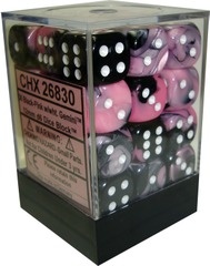 Chessex Gemini Black and Pink 12mm D6 36ct (26830)