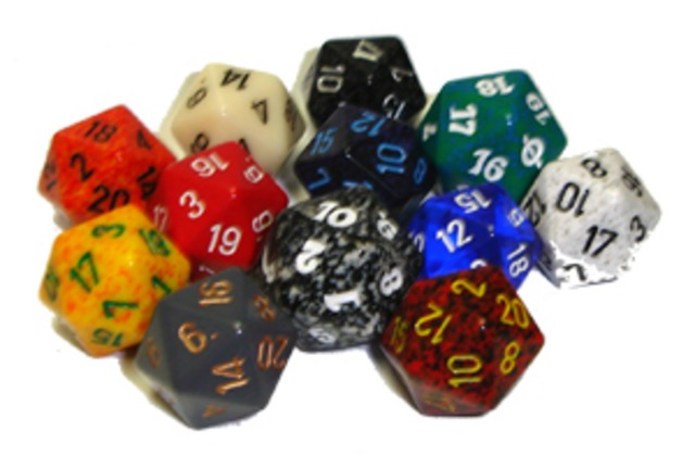 Chessex Dice Assorted 20 sided each