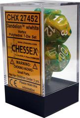 Vortex Polyhedral 7-Die Set Dandelion withe White (27452)