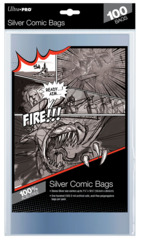 Ultra-Pro Comic Bags Silver Size 7-1/4