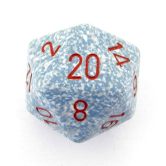 Chessex D20 34mm Speckled Dice, Air (CHXXS2020)