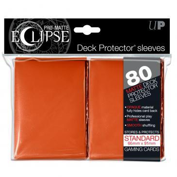 PRO-Matte Eclipse Orange Standard Deck Protector sleeves 80ct