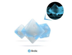 OAKIE DOAKIE DICE: POLYHEDRAL RPG SET GLOW IN THE DARK - ARCTIC (7CT)