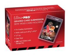 ULTRA PRO: CARD HOLDER - SEMI-RIGID GRADED CARD SUBMISSION SIZE (200 ct) 43000