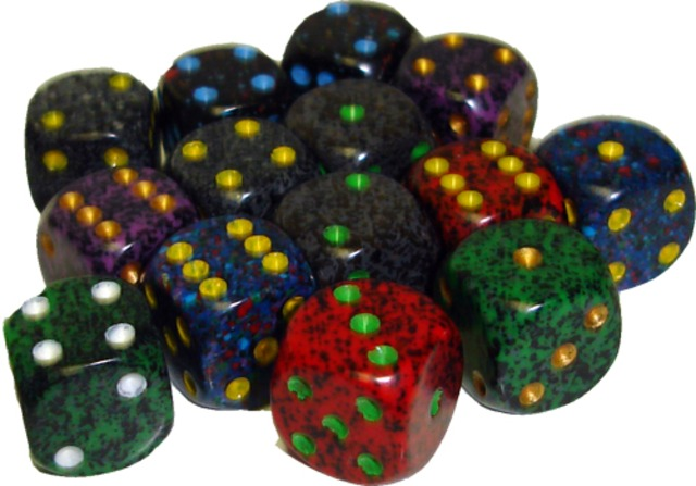 Chessex 12mm d6 Dice assorted