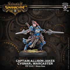 PIP31122 WRM Cygnar Captain Allison Jakes