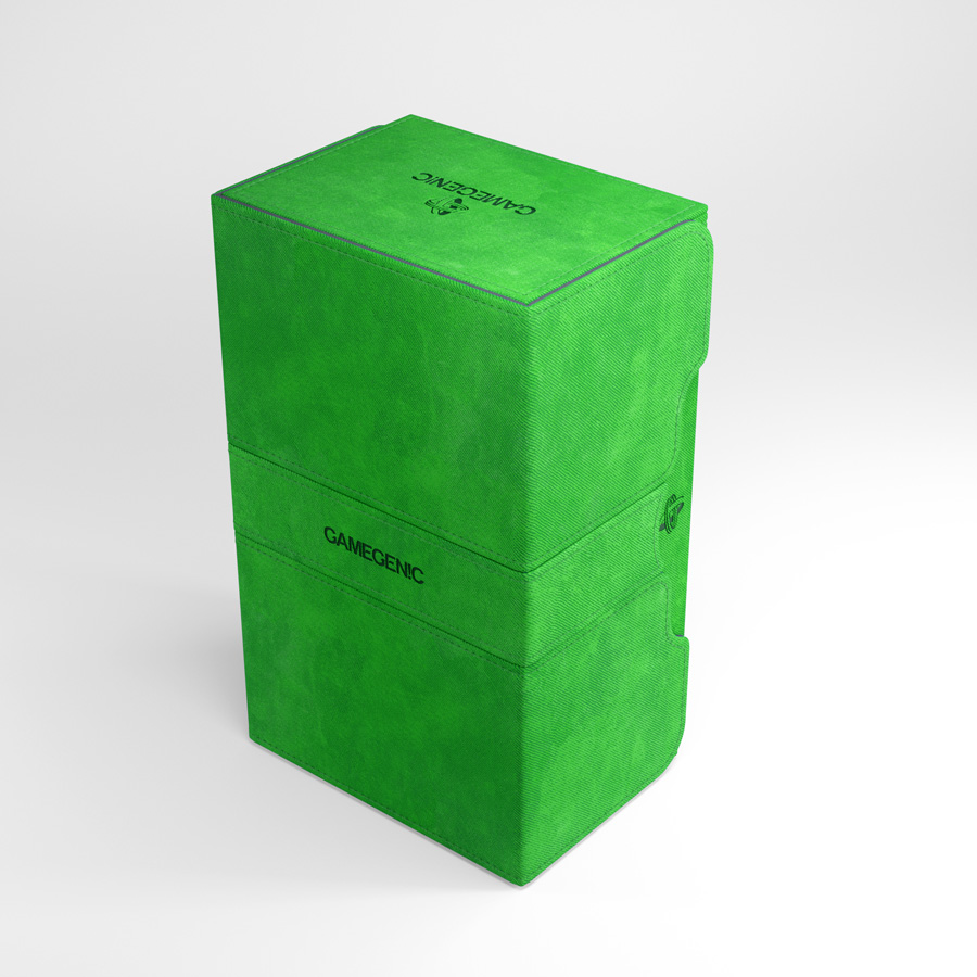Gamegenic Stronghold 200+ Convertible Deck Box Green