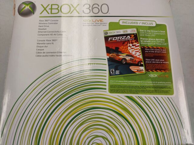 Microsoft Xbox 360 Core Forza Motorsport 2 Console Bundle (1 Wireless Controller, Headset, 20GB HDD, Composite & Power Cables)