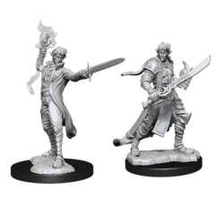 Pathfinder Battles Unpainted Minis - Male Elf Magus (Magic User)