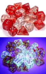 CHX27554 7pc Nebula Red w/Silver Dice Set