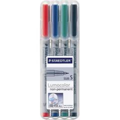 Staedtler 4 Lumocolor Non-Permanent Marker Pack