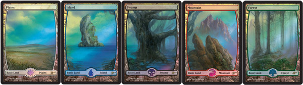 Set of 5 Lands - Full Art - Foil DCI Judge Promo