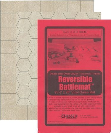 CHX96246 Battlemat 1 Hex & Square Reversible 23.5 x 26