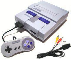 Nintendo SNES Console (Model SNS-001, 1 Controller, AV & Power Cable, Super Mario World)