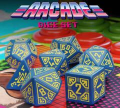 Arcade Dice Set: Blue & Yellow (7)