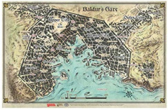 D&D Accessories - Baldur's Gate Map - Game Mat