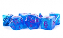16mm Polyhedral Set - Stardust - Blue with Purple
