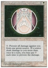 Circle of Protection: Green - 4th Edition - Black Border