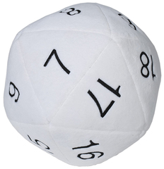 Jumbo Plush D20 White/Black