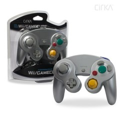 Wired Controller for Wii/ GameCube (Silver) - CirKa