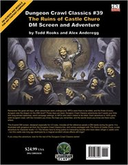 Dungeon Crawl Classics #39 The Ruins of Castle Churo New Dm Screen + Adventure