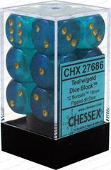 16mm Teal w/Gold CHX27686