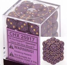 CHX 25917 - 36 Hurricane Speckled 12mm d6 Dice