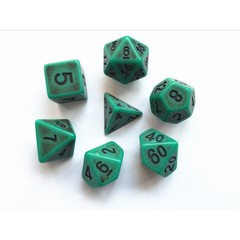 HD097 - 7 Polyhedral Ancient Moss Dice