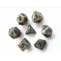 HD095 - 7 Polyhedral Ancient Stone Dice