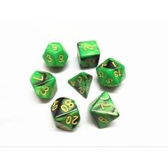 HD087 - 7 Polyhedral Marbled Night Vision Dice