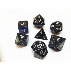 HD056 - 7 Polyhedral Deep Glitter Blue Dice