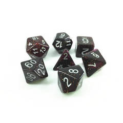 HD055 - 7 Polyhedral Deep Glitter Purple Dice