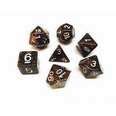HD059 - 7 Polyhedral Deep Glitter Gold Dice