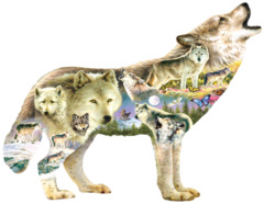 Meadow Wolf 750 pc Puzzle