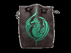 Black Leather Dragon's Breath Dice Bag