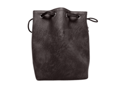 Black Leather Dice Bag