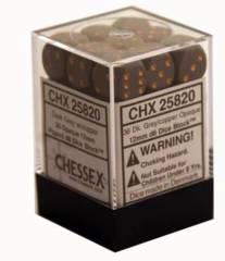 CHX 25820 - 36 Dark Grey w/ Copper Opaque 12mm d6 Dice