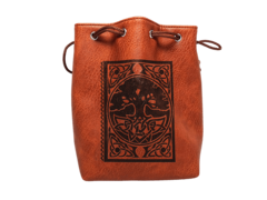 Brown Leather-Lite Spell Book Dice Bag
