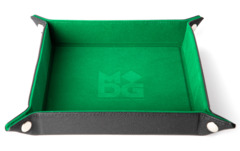 Green Leather Velvet Folding Dice Tray