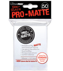Ultra Pro: Standard Sleeves - Matte White (50ct)