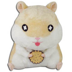 Great Eastern GE-52154 Hamster: Yellow Hamster Holding Cookie Plush, 8