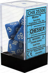 CHX 25306 - 7 Polyhedral Water Speckled Dice