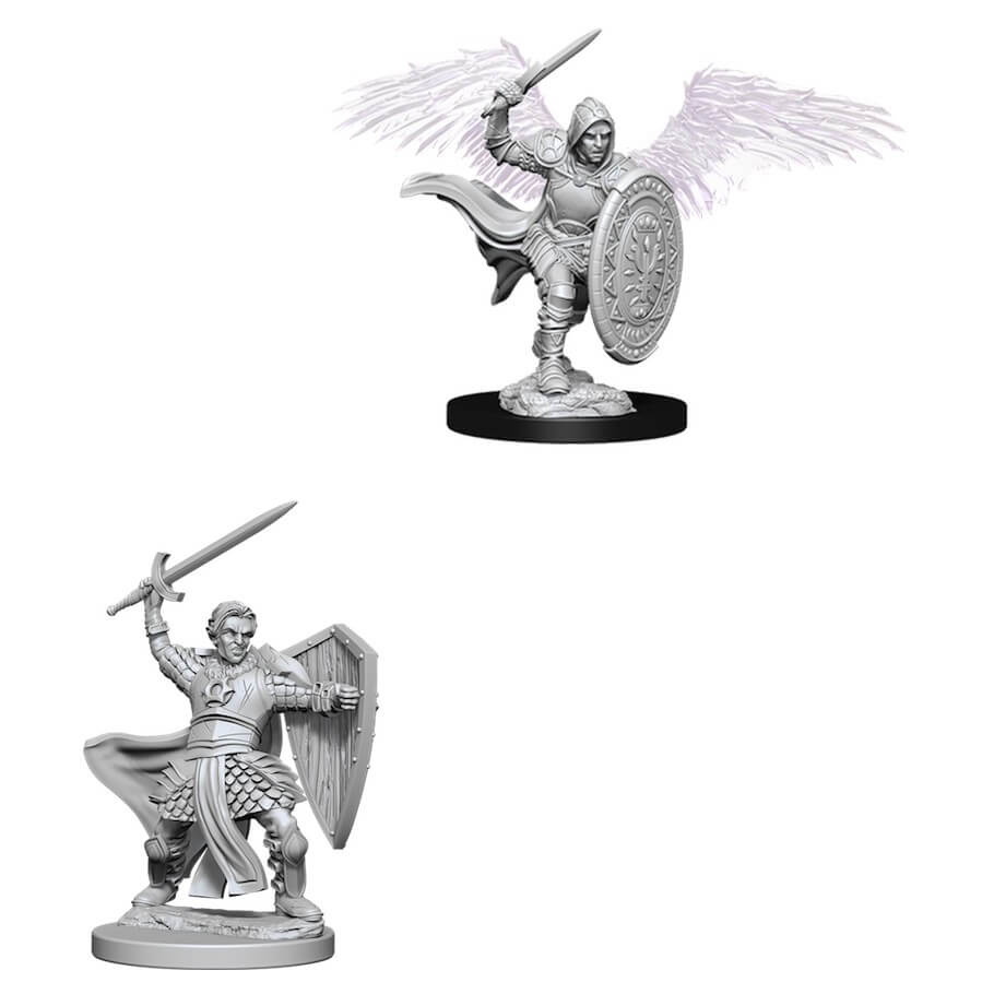 Dungeons & Dragons Nolzur`s Marvelous Unpainted Miniatures: Aasimar Male Paladin