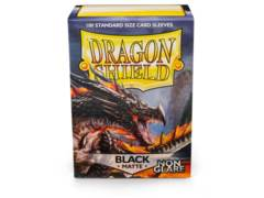 Dragon Shield: Standard Non-Glare Sleeves - Black Matte (100ct)