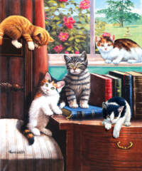 Playtime in the Study 1000pc Puzzle
