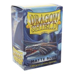 Dragon Shield: Standard Sleeves - Blue Matte (100ct)